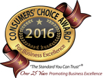 Consumer's Choice Award - Best Local Landscaper 2016