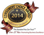 Consumer's Choice Award - Best Local Landscaper 2014